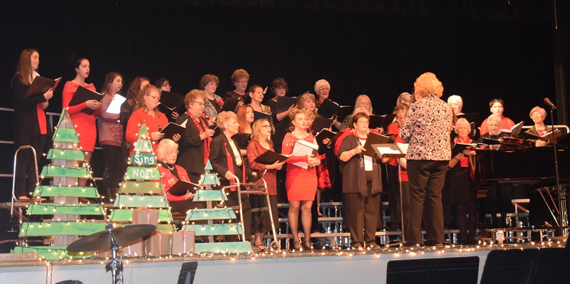 "Windsong Chorus performs ""You Raise Me Up,"" under the direction of Annette Lambrecht, during their ""Sing Noel at Christmas"" benefit concert Sunday, Dec. 4, 2016."