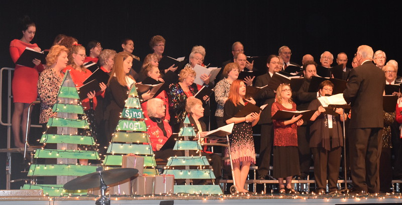 "Windsong Chorus and Centennial State Chorus perform ""The Majesty and Glory of Your Name,"" under the direction of Curt Kimball, during their ""Sing Noel at Christmas"" benefit concert Sunday, Dec. 4, 2016."