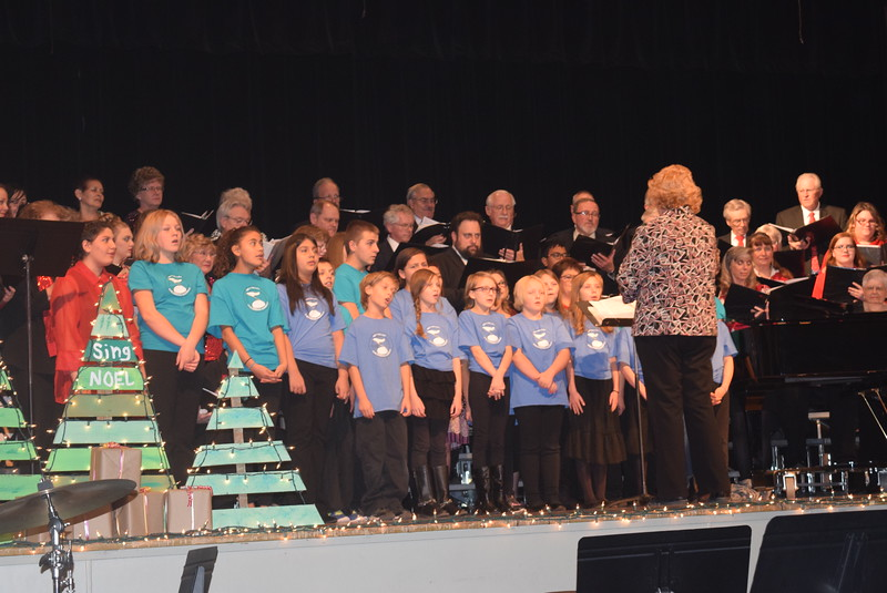 "Windsong Chorus, Centennial State Chorus and the RE-1 Valley Children's Chorale perform ""Sing Noel,"" under the direction of Annette Lambrecht, during the choruses' ""Sing Noel at Christmas"" benefit concert Sunday, Dec. 4, 2016."