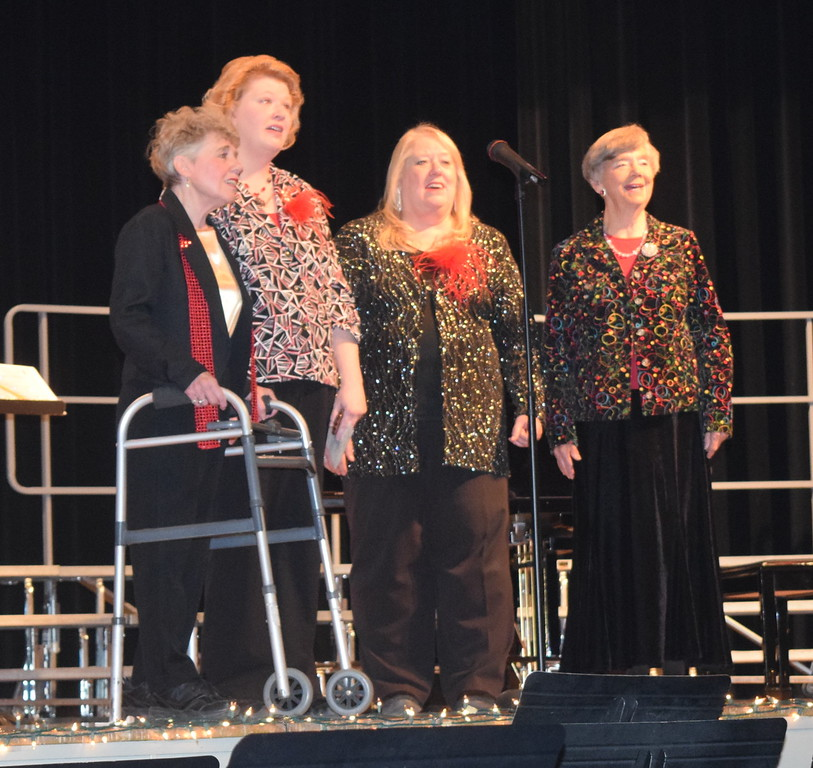 "The Windsong Quartet performs ""Jesus, Jesus, Rest Your Head"" during the chorus' ""Sing Noel at Christmas"" benefit concert Sunday, Dec. 4, 2016. From left; Sheryl Brunner, Annette Lambrecht, Mary Ann Anderson and Judy Kimball."