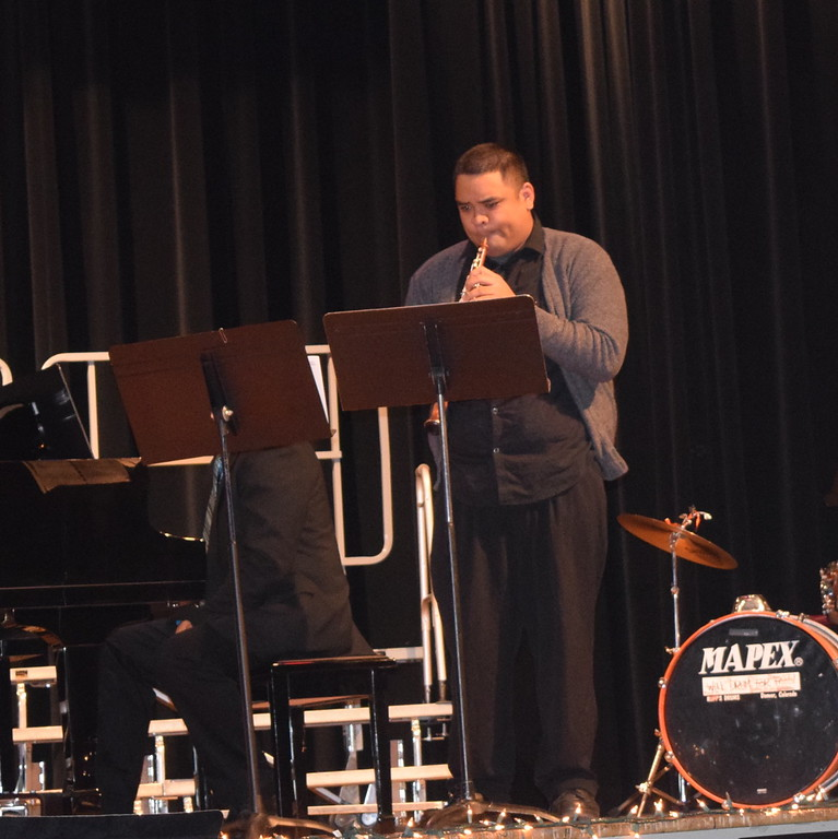 """Ryan Rosete performs an oboe solo, """"Christmas Medley,"""" accompanied by Darren Luft, at Windsong and Centennial State Chorus and friends' """"Sing Noel at Christmas"""" benefit concert Sunday, Dec. 4, 2016."""