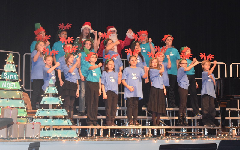 "The RE-1 Valley Children's Chorale performs ""Holly Jolly Christmas,"" under the direction of Annette Lambrecht and Dana May, during Windsong Chorus, Centennial Chorus and friends' ""Sing Noel at Christmas"" benefit concert Sunday, Dec. 4, 2016."