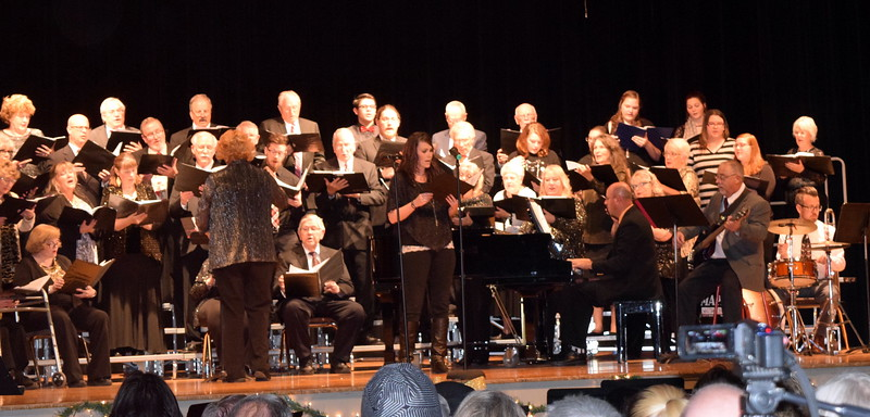 "Windsong and Centennial State Choruses perform ""Sending You a Little Christmas,"" under the direction of Annette Lambrecht, during the group's ""Christmas Celebration!"" concert Sunday, Dec. 3, 2017."