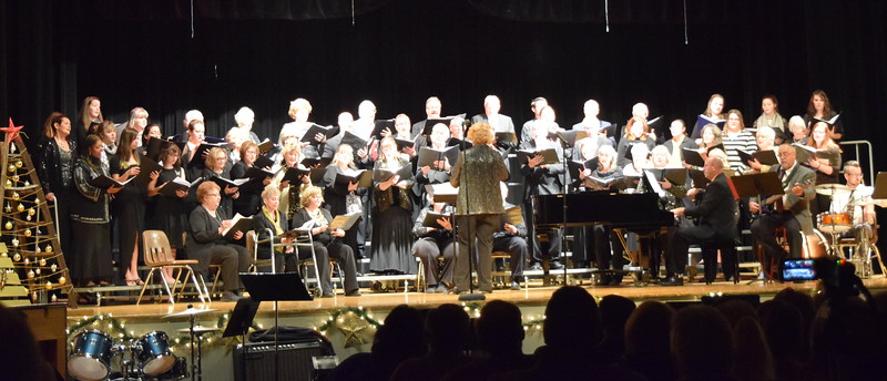 "Windsong Chorus and Centennial State Chorus, under the direction of Annette Lambrecht, perform ""Mary Had a Baby"" at their ""Christmas Celebration!"" concert Sunday, Dec. 3, 2017."