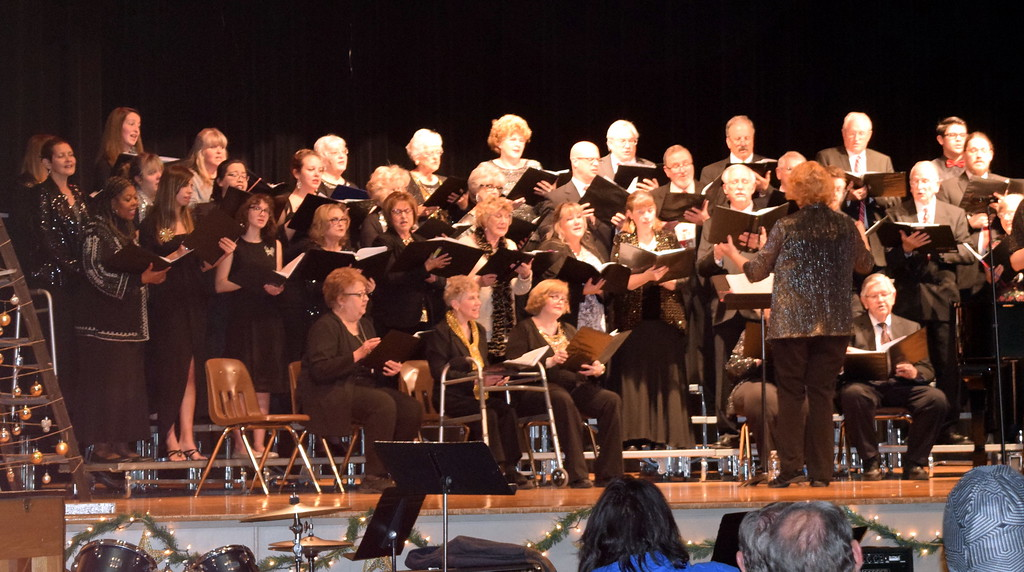 ". Windsong and Centennial State Choruses perform ""Sending You a Little Christmas,\"" under the direction of Annette Lambrecht, during the group\'s \""Christmas Celebration!\"" concert Sunday, Dec. 3, 2017."