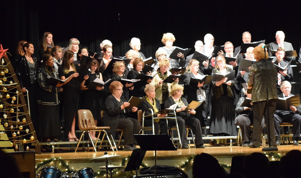 """. Windsong Chorus and Centennial State Chorus, under the direction of Annette Lambrecht, perform \""""Mary Had a Baby\"""" at their \""""Christmas Celebration!\"""" concert Sunday, Dec. 3, 2017."""