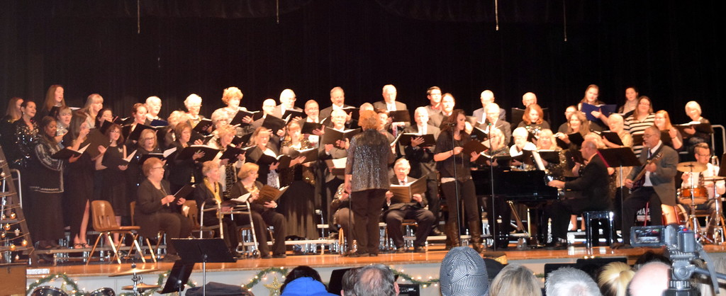 """. Windsong and Centennial State Choruses perform \""""Sending You a Little Christmas,\"""" under the direction of Annette Lambrecht, during the group\'s \""""Christmas Celebration!\"""" concert Sunday, Dec. 3, 2017."""