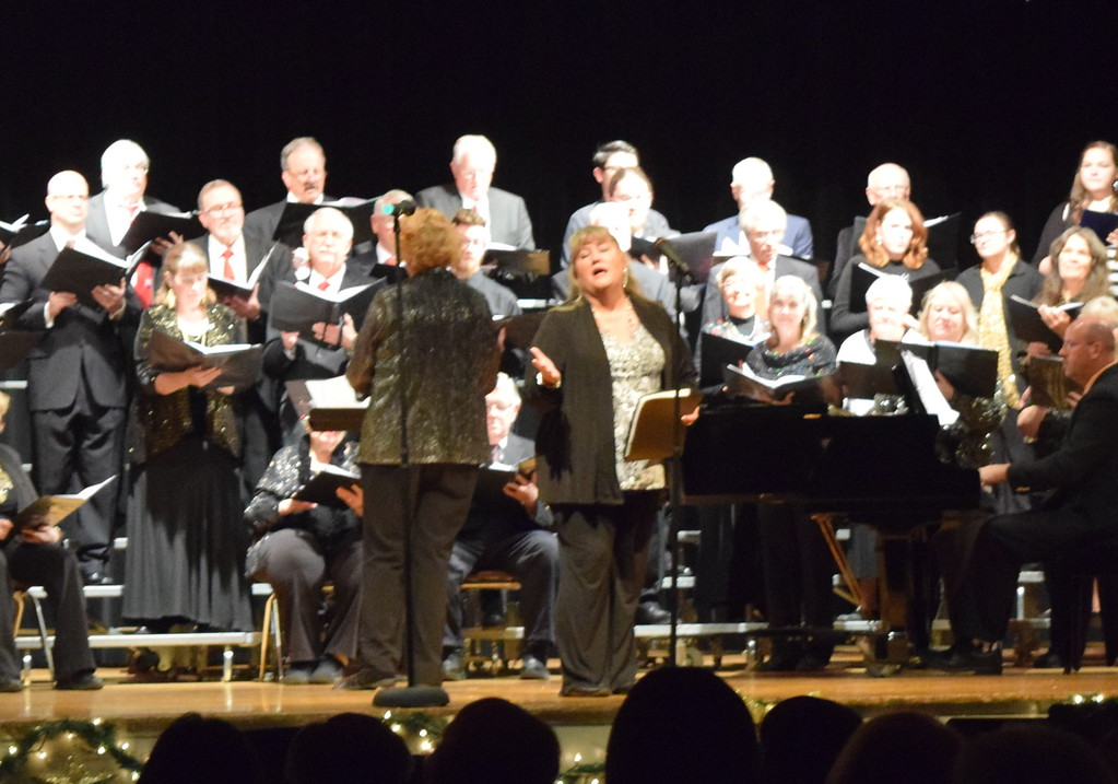 """. Earleen Friedly performs a solo during Windsong and Centennial State Choruses performance of \""""Mary Had a Baby\"""" Sunday, Dec. 3, 2017, at the group\'s \""""Christmas Celebration!\"""" concert."""