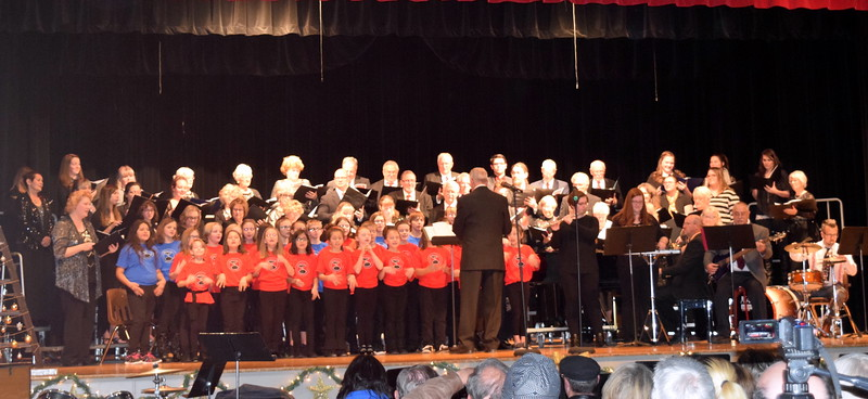"Windsong Chorus, Centennial State Chorus and the RE-1 Valley Children's Chorale perform ""Christmastime,"" under the direction of Dr. Curtis Kimball,"" Sunday, Dec. 3, 2017, during the group's ""Christmas Celebration!"" concert."