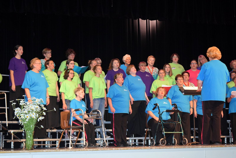 "Windsong Chorus and guests perform ""All I Have to do is Dream,"" under the direction of Annette Lambrecht, at the chorus' fourth annual Barbershop Festival and Show Saturday, June 10, 2017, at Sterling High School."