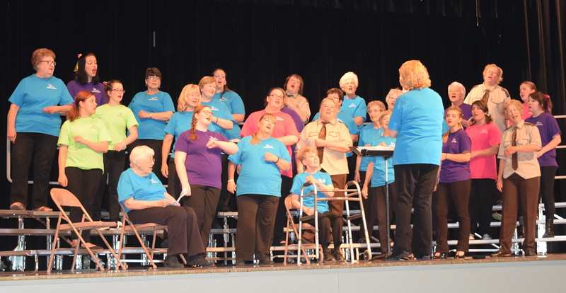 "Windsong Chorus performs ""Rockin' Robin"" at their third annual Barbershop Festival and Show Saturday, June 4, 2016."
