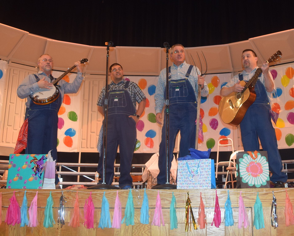 The Equally Delinquet Quartet, from the Cowoboy Capital Chorus, in Ogallala, Neb. – Steve Schwartzkoph, Dan Kafka, Maury Kramer and Chris Garcia – took on a western theme for their performance during Windsong Chorus' fall show Sunday, Oct. 16, 2016.
