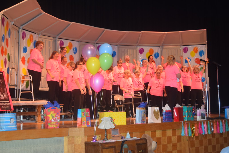 "Windsong Chorus wishes Kori Penfold a happy 16th birthday at the start of their fall show, ""Pajama-Rama: The Ultimate Birthday Party!,"" Sunday, Oct. 16, 2016. The show celebrated the chorus' 45th year as part of Sweet Adelines International."