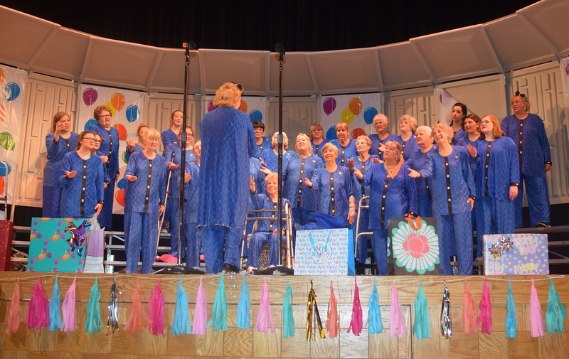 "Windsong Chorus performs ""Anotehr Birthday,"" under the direction of Annette Lambrecht, during their fall show, ""Pajama-Rama: The Ultimate Birthday Party!,"" Sunday, Oct. 6, 2016."