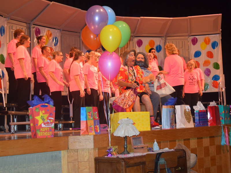 "Windsong Chorus tells the story of how the little old lady fell in love with the little old man during their ""Pajama-Rama"" fall show Sunday, Oct. 16, 2016."