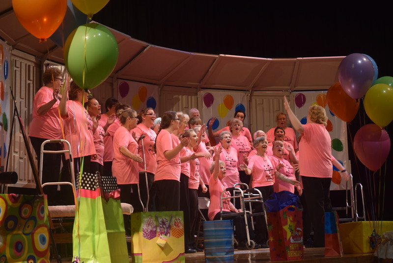 "Windsong Chorus performs ""Consider Yourself At Home,"" under the direction of Annette Lambrecht, during their fall show, ""Pajama-Rama: The Ultimate Birthday Party!,"" Sunday, Oct. 16, 2016."