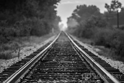 B&W Train Tracks