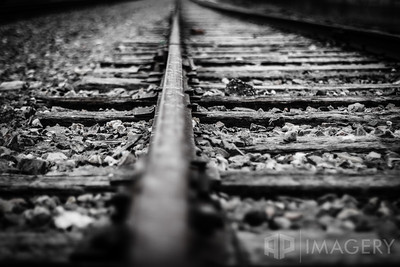 Railroad Track B&W