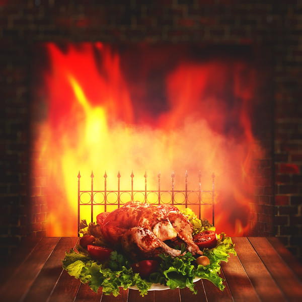 Grilled chicken. Abstract food backgrounds for your design