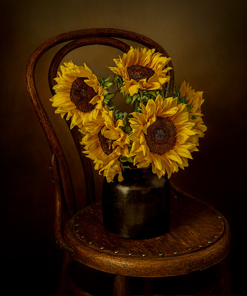 Sunflowers On Chair