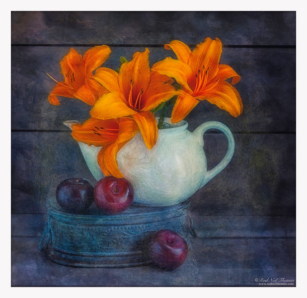 Daylilies In Teapot