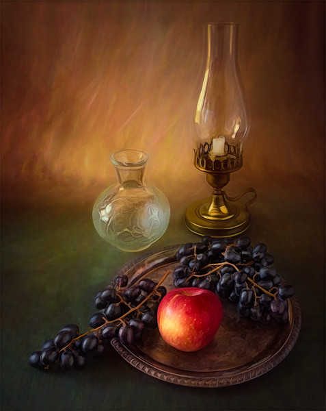 Grapes and Lantern