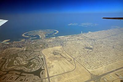 Downtown Dubai and the Palm island UAE 2012