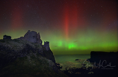 Dunluce Castle Aurora 2015