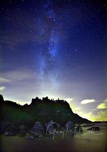 Milky Way over Dunluce Castle 2014