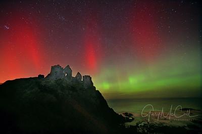 Aurora Borealis, Dunluce Castle, County Antrim February 2014