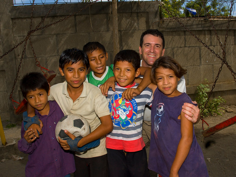 Nicaragua Mission November 2006<br /> School of Hope in the dump<br /> Philip and the boys he played Futbol with
