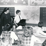 Students are seen in a classroom at the Cathedral School in an undated file photo.