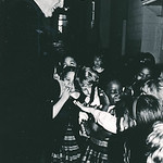Arlington Bishop John R. Keating greets students from the St. Thomas More Cathedral School in 1985.
