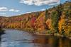 Autumn foliage along the St. Mary's River near Sherbrooke on the eastern shore of Nova Scotia.