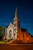 A church in the UNESCO World Heritage town of Lunenburg