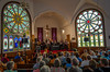 Scott Woods and his family band from Fergus, ON., perform at a public concert in Grace United Church in Port Greville