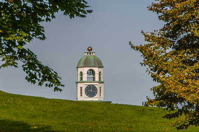 The top of the Old Town Clock at Citadel Hill in downtown Halifax