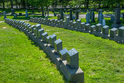 Fairview Lawn cemetery and graves of victims of the Titanic disaster in April 1912.