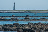 A view of the Cape Sable Light as seen from The Hawk beach near the fishing community of Clark's Harbour on Cape Sable Island, the most southerly point of land in Atlantic Canada. The lighthouse, at 31.5 meters (101 feet) is the tallest in Nova Scotia.