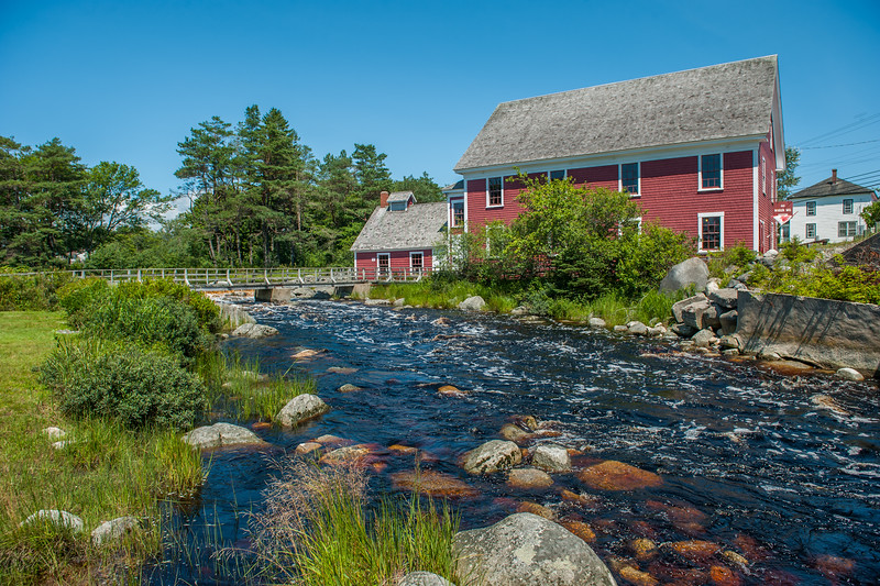The Barrington Woolen Mill Museum on the Barrington River in the South Shore community of Barrington. It first began production of woolen goods in 1882 and because part of the Nova Scotia Museum complex in 1968.