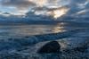Shoreline scenes at daybreak near the Point Aconi lighthouse on Cape Breton Island