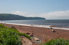 A series of views showing the incoming tide at Spicers Cove on the edge of Cape Chignecto Provincial Park.