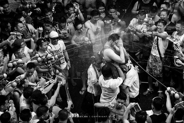 Songkran Festival at Silom, Bangkok