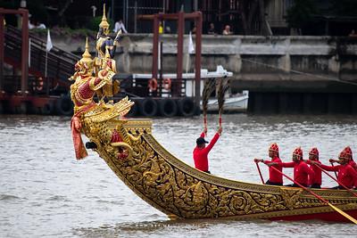 Narai Song Suban - H.M. King Rama IX Royal Barge, The Rehearsal for the Royal Barge Procession