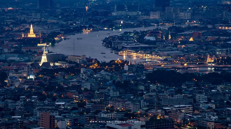 The Cityscape of Bangkok and Thonburi