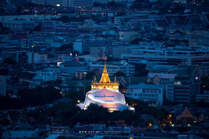 Cityscape of Bangkok view from Banyan Tree Residences