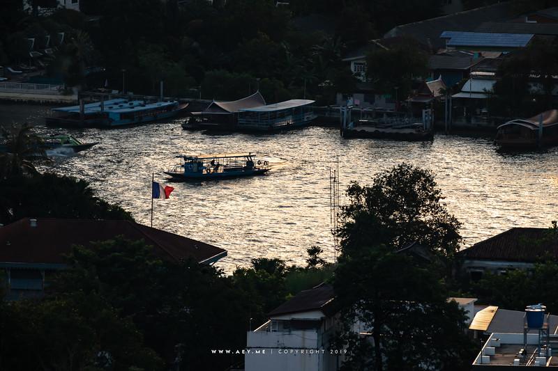 Boats in the Chao Phraya River