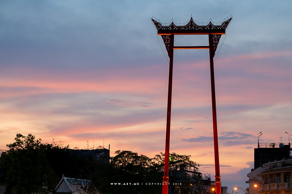 Sunset at the Giant Swing