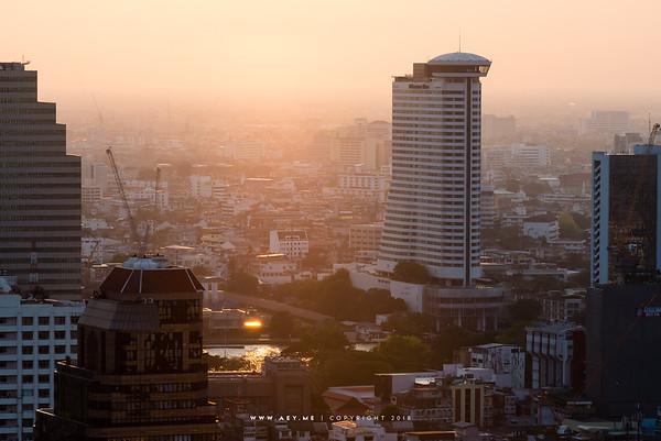 Bangkok view from Scarlett Wine Bar & Restaurant, Pullman Hotel G