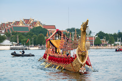 Royal Barge Suphannahong, the Rehearsal for the Royal Barge Procession